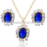 New Wedding Women Fashion Rhinestone Necklace Crystal Earrings Charm Jewelry Set