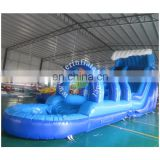 Giant inflatable water slide / blue super inflatablle slide n slip inflatable pool slide for adult