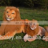 china manufacturer realistic life size lion wild animal plush toy