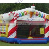 popular candy house inflatable castle for sale JC053