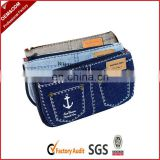 Plain custom printed jean purses in fasion