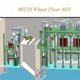80T Wheat Flour Mill