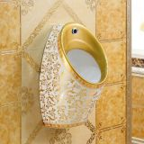 Golden color one piece urinal one piece wall mounted male urinal