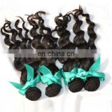 4pcs/lot Peruvian loose weave 5A unprocessed Peruvian Virgin Hair loose wave natural black hair weft