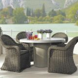 Steel Rattan Dining Chairs Colorfast Rattan Table Chairs