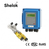 High accuracy wall-mounted fixed ultrasonic flow meter water and gas