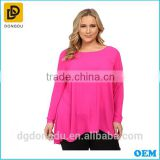 Plus size 2016 ladies' new fashion sexy blouse new design long sleeve high-low hem blouse