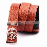 China Supplier Embossed leather belt for men 100% cowhide genuine leather belt