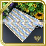 New designs blue cystal heat transfer resin mesh rhinestone motif for pocket FHRM-012                                                                                                         Supplier's Choice