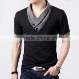 New-Plus-Size-Mens-Summer-Casual-T-shirt-Fashion-Slim-Short-Sleeve-V-Neck-T Standard Sports