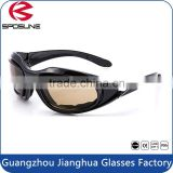 Shatterproof bifocal safety glasses cheap night army goggles military shooting black frame brown lens