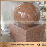 Maple Red G562 Granite Floating Ball Fountains, China Red Granite Rolling Sphere Garden Fountains