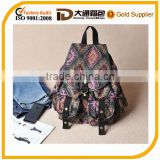 2014 fashion vintage ratio canvas backpak for teenageer girls/target school bags