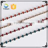 Wholesale rhinestone colored bead hip hop chain                                                                                                         Supplier's Choice