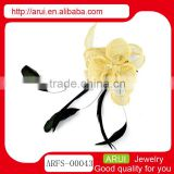 Hair accessories kids flower brooch feather hair headdress flower