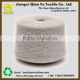 Ne0.5s/4ply Raw white Open end recycled blended 70%cotton 30%polyester yarn for mop head with plastic