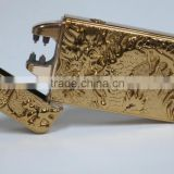 Dragon double usb charge lighter metal electronic cigarette lighter personalized lettering
