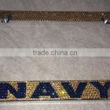 Navy Bling Rhinestone License Plate Frame Crystal Car Screws and Caps
