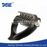 Package plastic handle Dematting Comb Shedding tool for dog