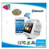 U8 Bluetooth Smart Watch U Watch 2 with ALTIMETER Phonebook Call MP3/ Alarm For Samsung S6 S5 NOTE 4 Andriod Phone and iPhone 6