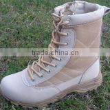 safety winter genuine leather desert army Military Boots