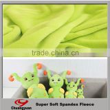 super soft high quality 100% polyester fleece fabric plain green fleece velvet fabric for kid toy