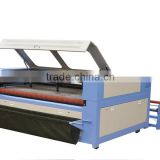 home fabric laser cutting machine/big laser cutting and engraving machine/best cnc laser cutting for cloth plastic sheet pvc