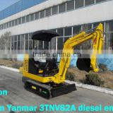 1.8ton micro crawler excavator with Japan Yanmar engine,hammer,tilt bucket,canopy or cabin
