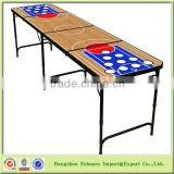Fashion design Customized 8ft beer pong tables/aluminum folding beer pong table