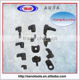 tool holder plate pinch clamp and clamp screw