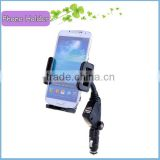 Universal Mobile Phone Car Charger Holder 2 USB Ports and Cigar Socket For Smartphones 2 USB Charger