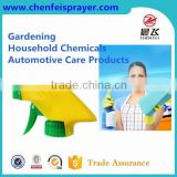 Plastic 28 400 clear trigger sprayer head in green and yellow color can be custom for different size cleaner bottle