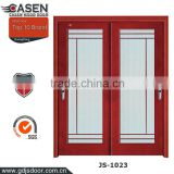Guangzhou new modern lattice commercial double glass doors sliding doors online with low-E glass
