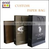 Factory customized various wax coated paper bag for shopping advertisement