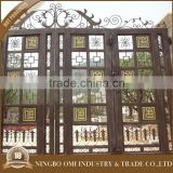 Good service factory directly design wrought iron entrance gates