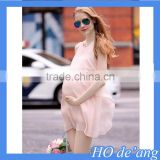 Hogift Maternity clothing casual maternity dress chiffon maternity clothes plus size ladies sexy pregnant dresses