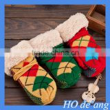 HOGIFT Children thick knit with rope gloves,Baby fingerless lattice gloves,Christmas Gifts Gloves