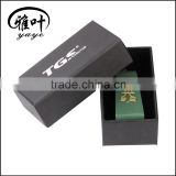 30x30x80mm Fashionable Trapezoid Green Aventurine Crystal Engraved Stones with Boxes as Business Gift