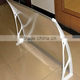 5mm Hollow PC Door awning/D80xW100cm/ Polycarbonate door canopy/PC window awning/plastic door awning/front door canopy