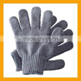 Unique Carbonized Bamboo Bath Exfoliating Scrubber Gloves                                                                         Quality Choice