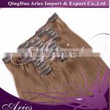 2016 the most popular human hair products unprocessed brazilian hair extension clip in hair