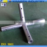 Different Types Cross Joint 4 Way Fitting Pipe for Tent and Canopy Frame Installation YS39034