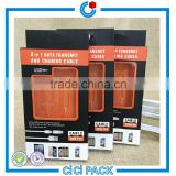 Custom color printing coated paper packaging box with a PVC window for data cable wholesale                                                                                                         Supplier's Choice