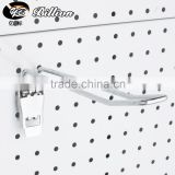 Powder Coated Single Wire Pegboard Display Hook double wire display hook for hanging chrome finish hook with tag