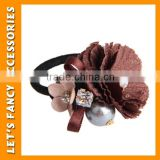 PGHD0357 Fabric jewelry fashion elastic flower crystal stone hair band for beautiful girls