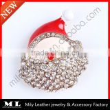 2014 new fashion christmas craft Santa Claus brooch supplier