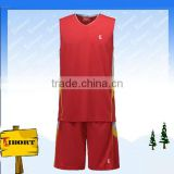 BKB-007-2 Reversible basketball jersey color red