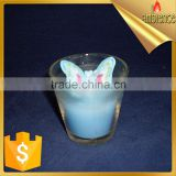 Jar Candle beautiful blue butterfly shaped gift candel art glass candle