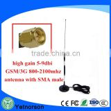 3G GSM antenna 9dbi with SMA Male Plug connector magnetic base 3m cable for 3G wireless router