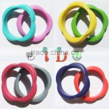 Hot FDA Approved BPA Free Silicone Baby Bangles Designs